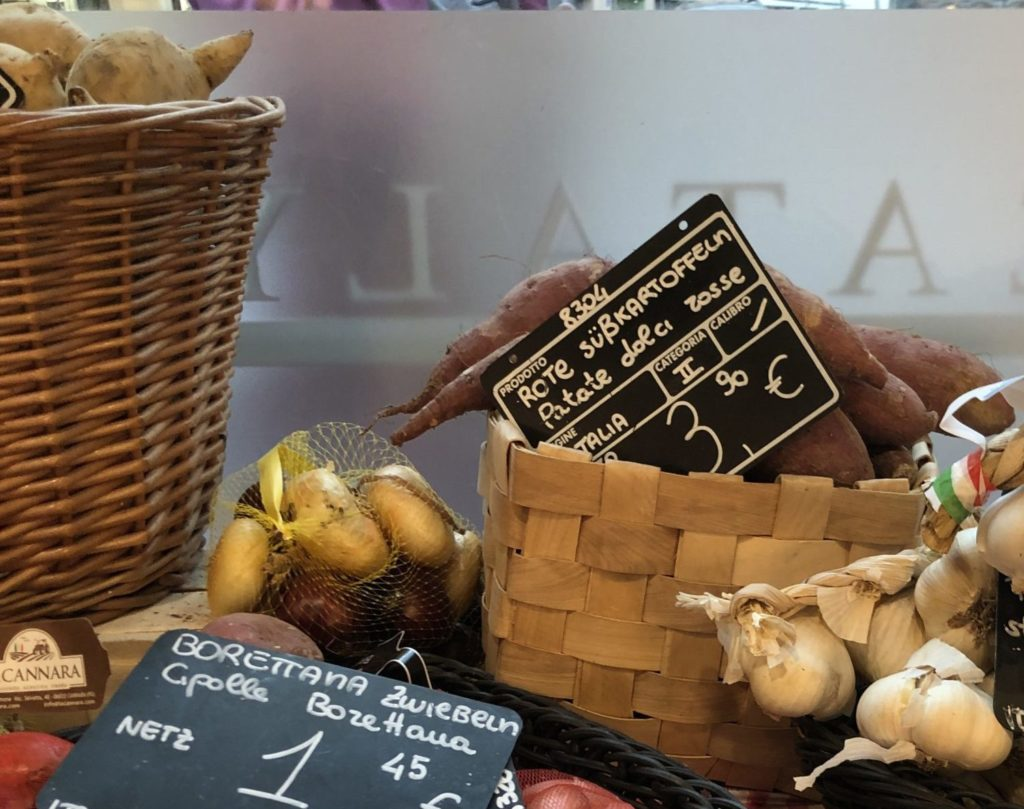ミュンヘンのイータリーで買えるイタリア産さつま芋